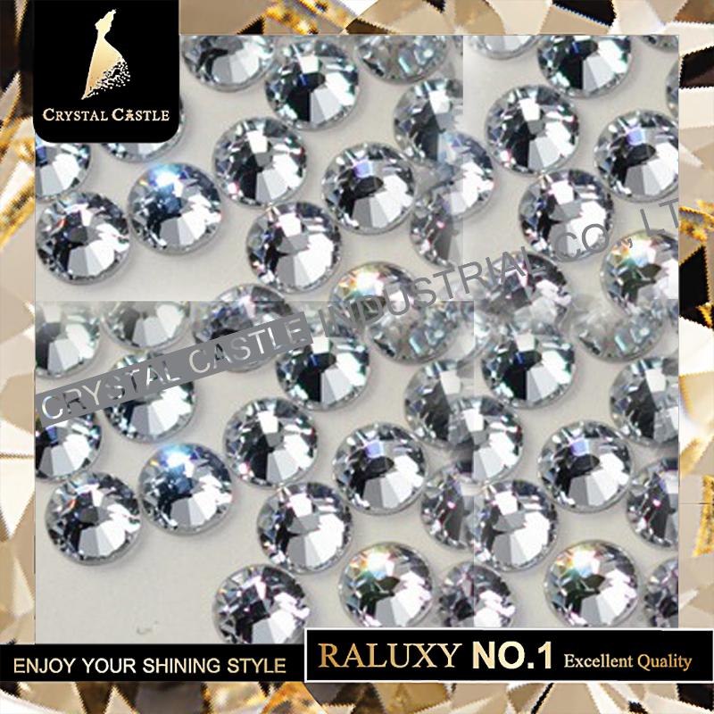 Top Grade AAAAA Best SS12 3-3.2mm Flatback Glass Strass Stone Iron On DIY Rhinestone Hot Fix Crystal Hotfix For Wedding Clothing(China (Mainland))