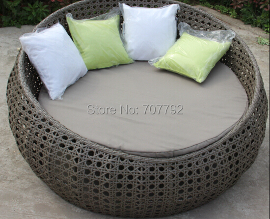 2015 New arrival outdoor furniture rattan round lounger sofa(China (Mainland))