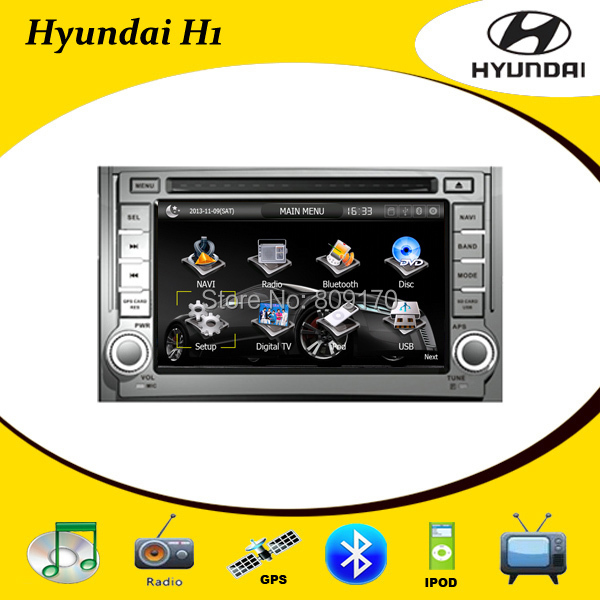 Hyundai H1/Starex/IMAX/ILOAD/I800 car dvd gps navigation with radio tv ipod,BT+Free 4G Card with Map+Free Rear View Camera !!(China (Mainland))