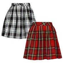 Buy Fashion Striped Mini Skirt Summer Women High Waist Stretch Plain Plaid Skater Flared Pleated Skirt for $5.88 in AliExpress store