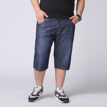 2016 New Fashion Mens Plus Size Straight Jeans Shorts Loose Fit Size 34 To 48 5xl 6xl Breathable And Cool Basketball Short Pants