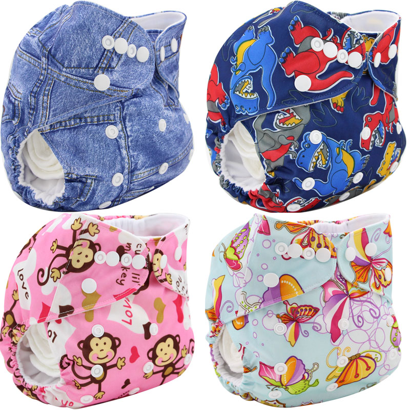 Baby Cloth Diaper Cover Bamboo Velour Fitted Diaper Washable Brand Baby Nappy Animal Print Reusable Baby Diapers Couche Lavable(China (Mainland))