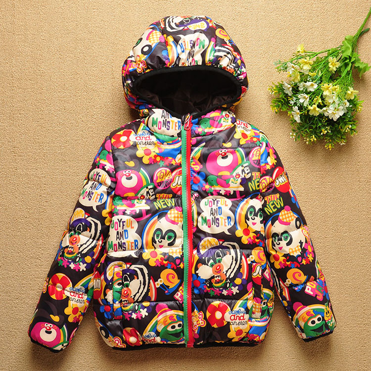 Real Photo! Hot 2016 new Children's winter short design child thickening cotton-padded baby outerwear Free shipping(China (Mainland))