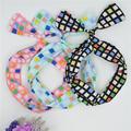 Geometric Headband Dolly Aluminum Wire Bow women chiffon Teen Hairband Retro Twisted Adult Headband Vintage Dot