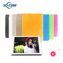 Russia Warehouse Talk9x talk 9x u65gt Leather Case Stand Flip Cover Case For Cube Talk 9x U65GT With 4PCS Screen Protector Gift