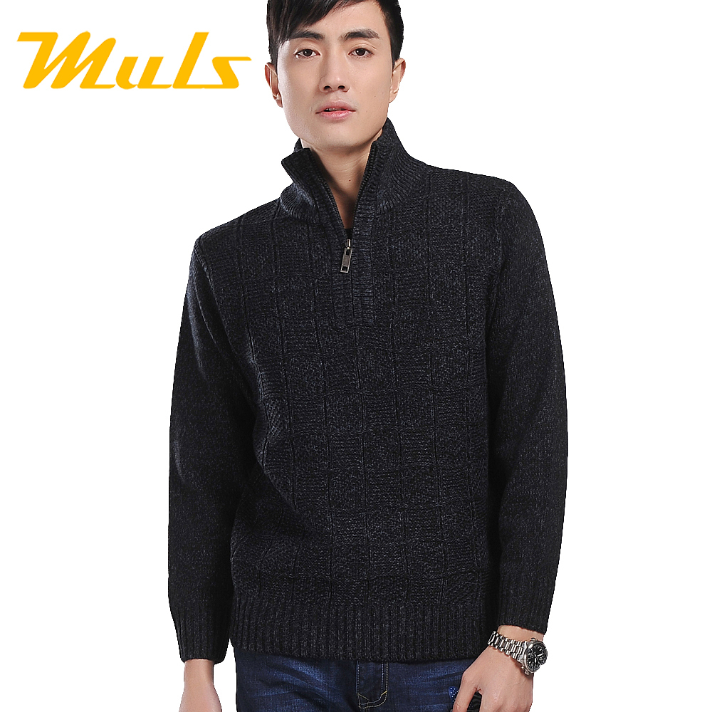 zipper coat designs men brand sweater winter dress turtleneck pullover jumper clothing small horse lover sweaters 4xl wool 2015(China (Mainland))