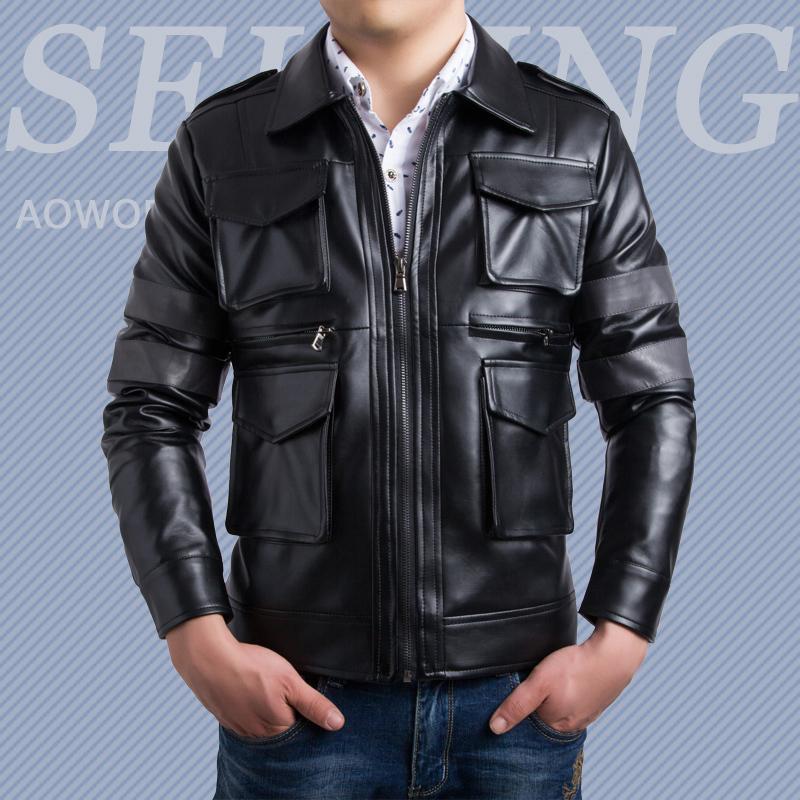 Chaquetas Hombre 2015 New Plus Size XXXL Leather Jacket Men Jaqueta Couro Masculina Mens Jackets And Coats Casaco Masculino