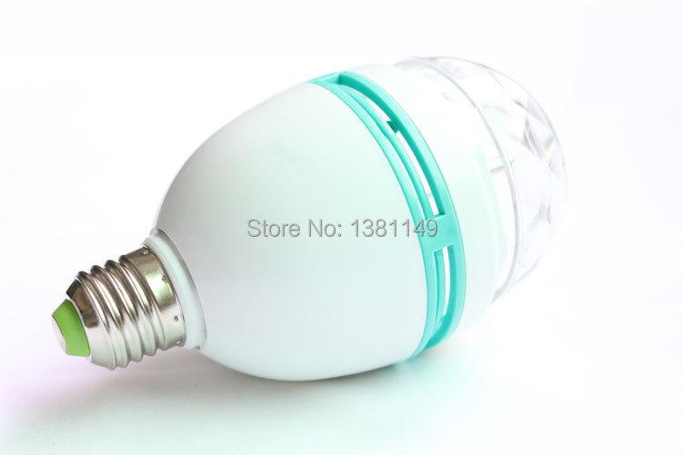 Free Shipping led lighting Rotating seven lights small crystal magic ball lamp without acoustic radium shoots the light(China (Mainland))