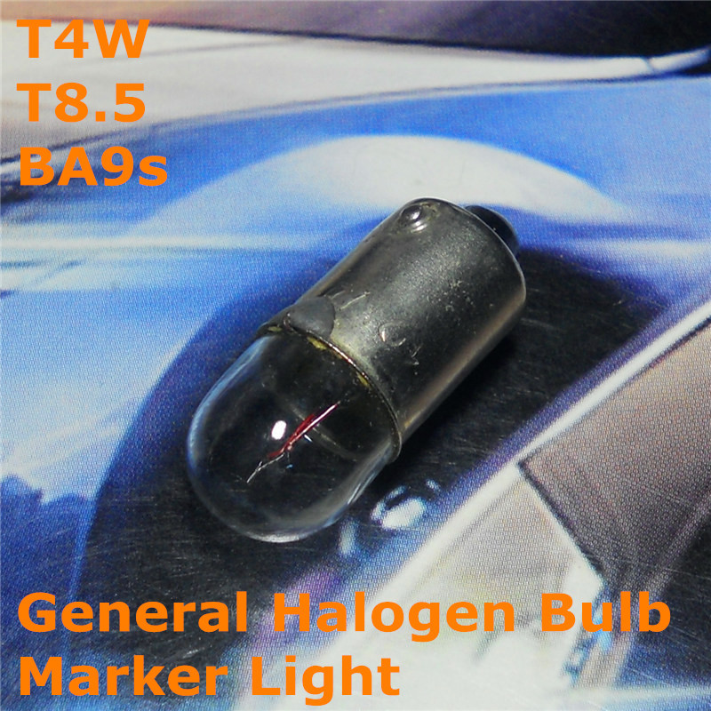 Stock Shipping New 24V General Halogen Car Lamp Bulb T4W T8.5 BA9s for Width Marker License Board Top Reading Light(China (Mainland))