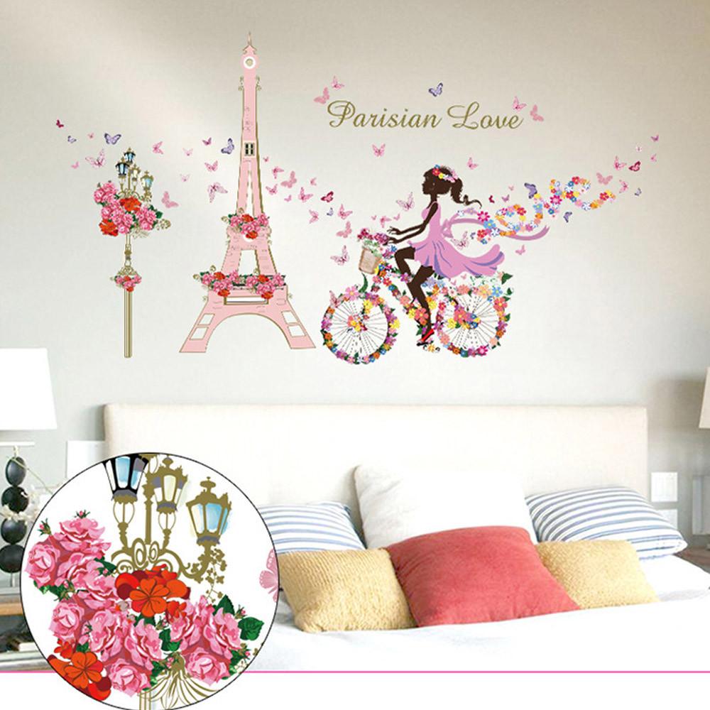 Promoci n de bicicletas mural compra bicicletas mural for Cuartos decorados de la torre eiffel