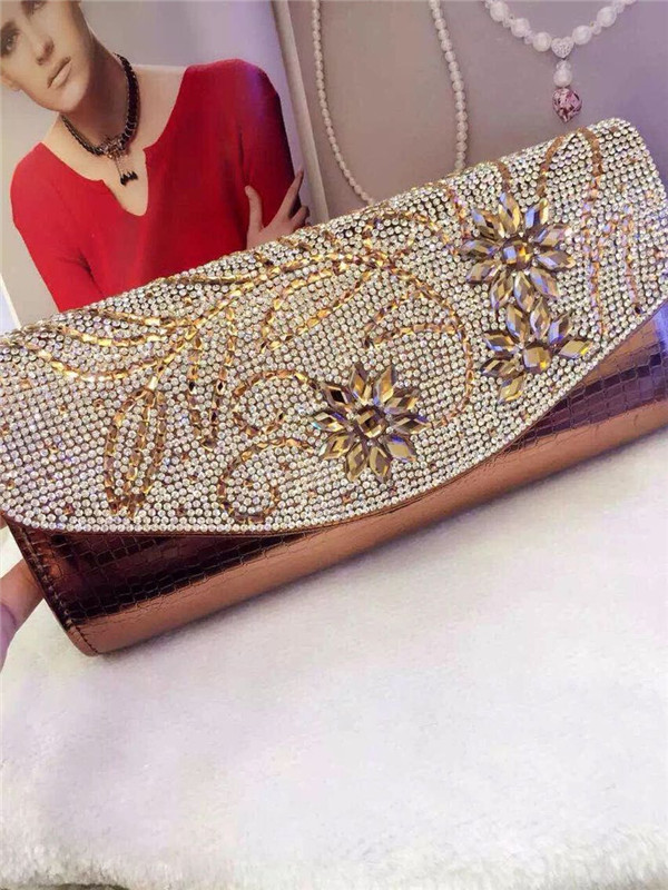2015 High Quality Hot Sell lady perfume diamond leather clutch bags women(China (Mainland))