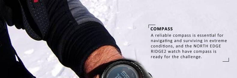 Мужчины спортивные часы Bluetooth высотомер барометр компас термометр прогноз погоды шагомер часы выполнить восхождение часы