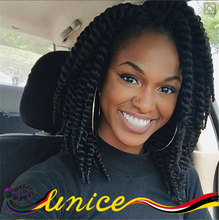 12inches New Short Length Synthetic Crochet Braid Hair Havana Mambo Twist Braiding Hair Extensions For Kids And Women