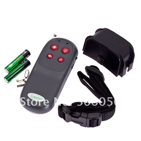 Hot sell !!!!New!! 60 pcs Dog 4 IN 1 Remote Pet Training Vibra & Electric Shock collar,no bark training collar