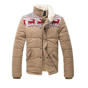 Parkas Hombres Warm Snow New men's clothing 2015 winter Jacket deerlet  cotton-padded Outwear Overcoat coat thickening R1075
