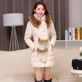 Womens clothing Overcoat 2016 new winter down jacket long section of high end fashion gloves padded