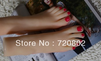 Free shipping !3D real foot  pussy clone feet  fetish fake  feet sex rubber  feet 22cm 8.6 inch foot fetish toys
