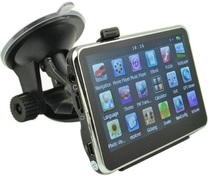 factory direct-sale 4.3 inch high brightness touch screen car gps navigation bundle free maps (China (Mainland))