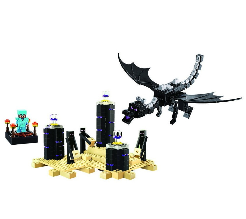 Фотография BELA ender dragon original Minifigure actions figure Plastic Building Block Sets Toys For Children Compatible With LEGO\ decool