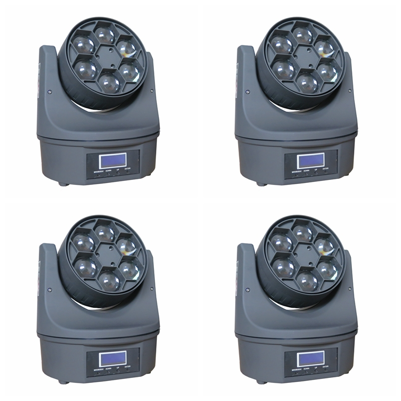 4XLOT Mini Bee Eye Led Moving Head Light 6*15W High Power RGBW 4in1 Led Stage Lighting 11/14DMX Channel<br><br>Aliexpress