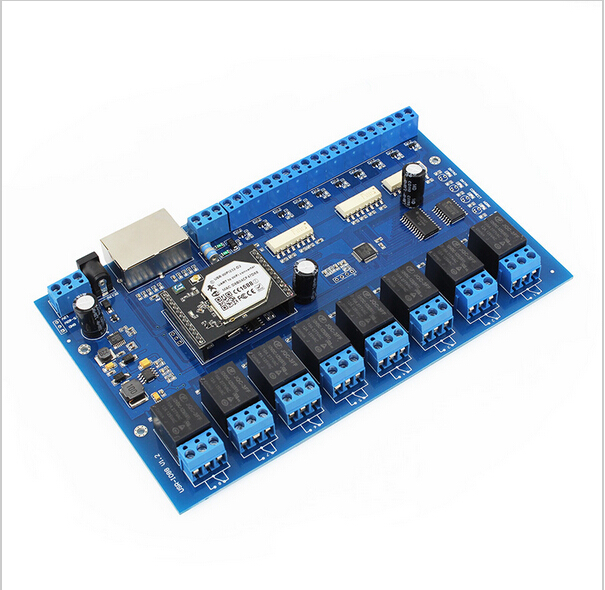 Гаджет  smart home automation USR-IO88 PC/Android/IOS app control wifi relay board with 2* rj45 port/wireless relay control board device None Аппаратные средства