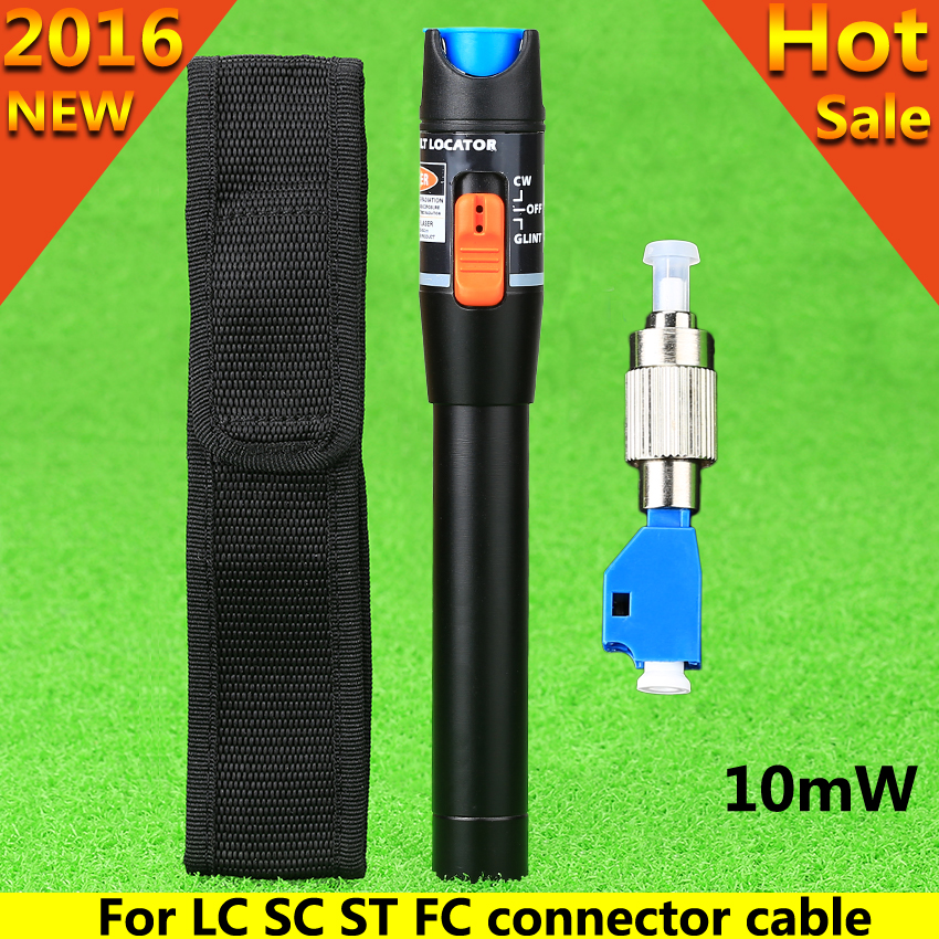 2016 New FTTH laser optico Metal fiber optic laser tester LC/FC/SC/ST Adapter fiber optica cable visual fault locator 10MW CATV(China (Mainland))