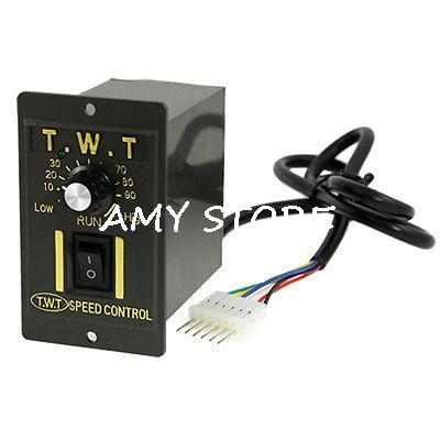 Black Ac 220v 90w Gear Electric Motor Speed Controller
