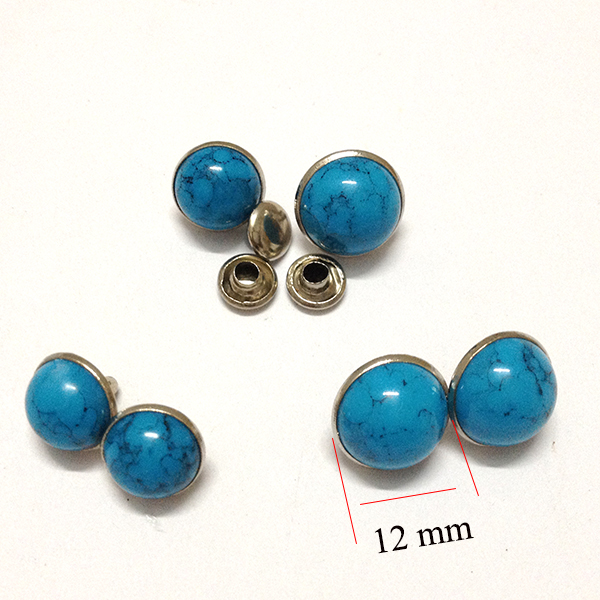 1000 sets Blue Turquoise Rapid Rivets Studs Decorations Findings12 mm<br><br>Aliexpress