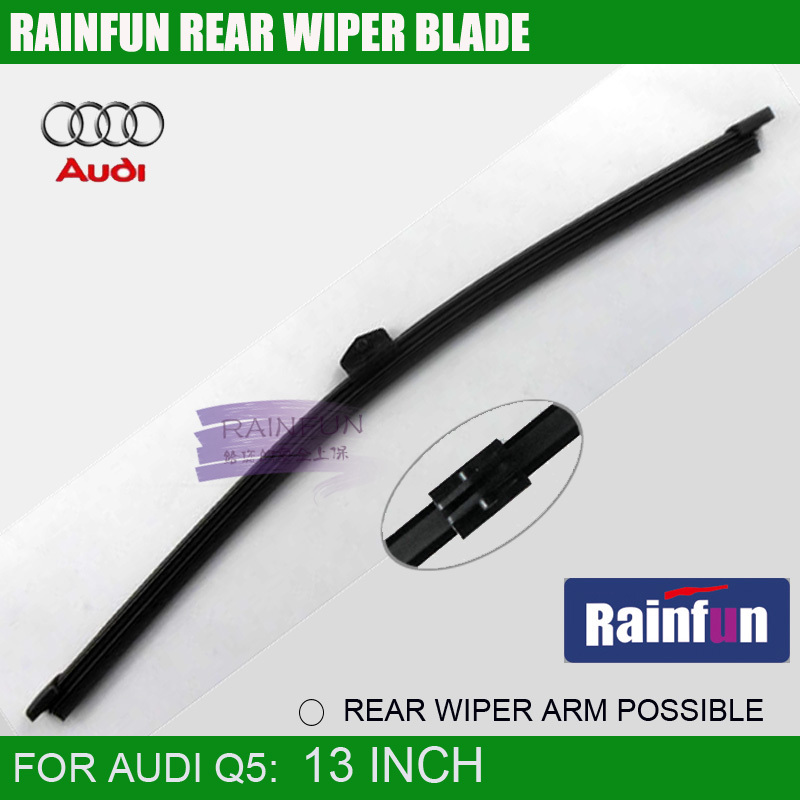 RAINFUN 13Q REAR WIPER BLADE FIT FOR AUDI Q5 (2008-2013) ,  SIZE: 13 (325MM) DEDICATED REAR WIPER BLADE<br><br>Aliexpress