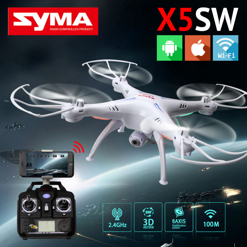 Original SYMA X5SW WIFI RC Drone fpv Quadcopter with HD Camera 2.4G 6-Axis Real Time RC Helicopter Quad copter Toys +4pcs motor(China (Mainland))