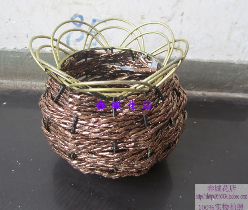 Kunming , Yunnan dried flowers wholesale handmade baskets rattan dining table placed flower vase home decoration flowerpot(China (Mainland))