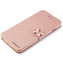 5 5s Luxury Crystal bow-knot Leather Wallet Card Holder Flip Stand Case Cover For iphone 6/6S 4.7″ iphone 6S/6plus 5.5″ bowknot