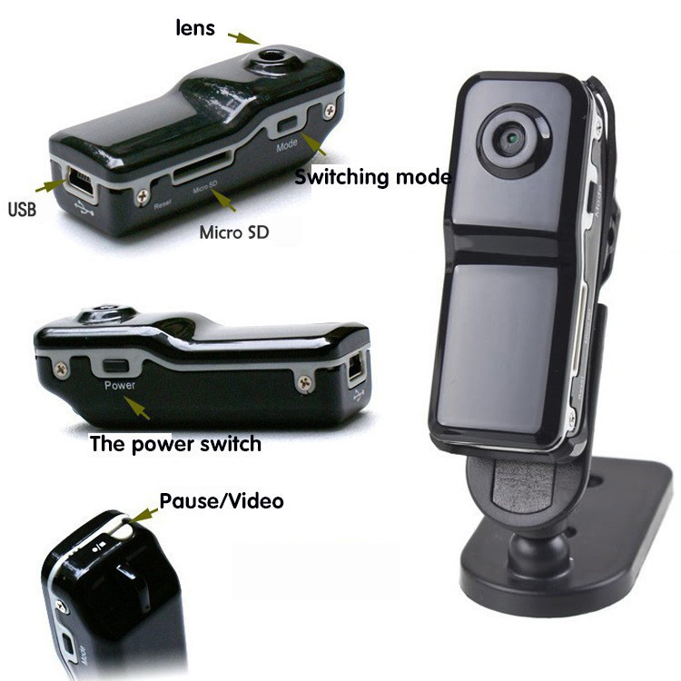 HD Mini MD80 SPY Camcorder DV DVR Camera Digital Video Recorder Hidden professional Easy Installation(China (Mainland))