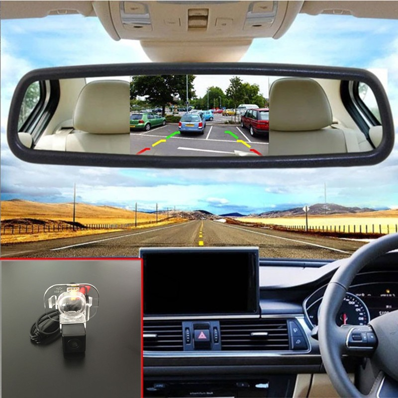 "Car Parking Assistance Rearview Kit For Hyundai ix20 2010~2014 = Promotion Car Reverse Camera Back up Camera + 5"" Mirror monitor(China (Mainland))"