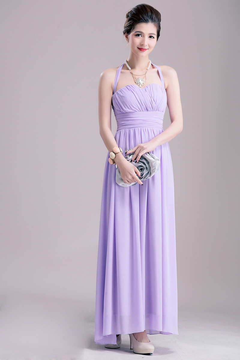 New Arrival Simple Cheap Lavender Chiffon Bridesmaid