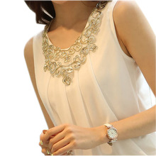 blusas y camisas mujer chiffon blouse ladies tops plus size women clothes white shirt women blouses 2016 summer tops haut femme(China (Mainland))