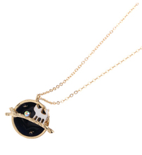 N147 Free shipping 18K Gold Plating Fairy tale Cute Cat Star Planets Pendant Necklaces Wholesale HY(China (Mainland))