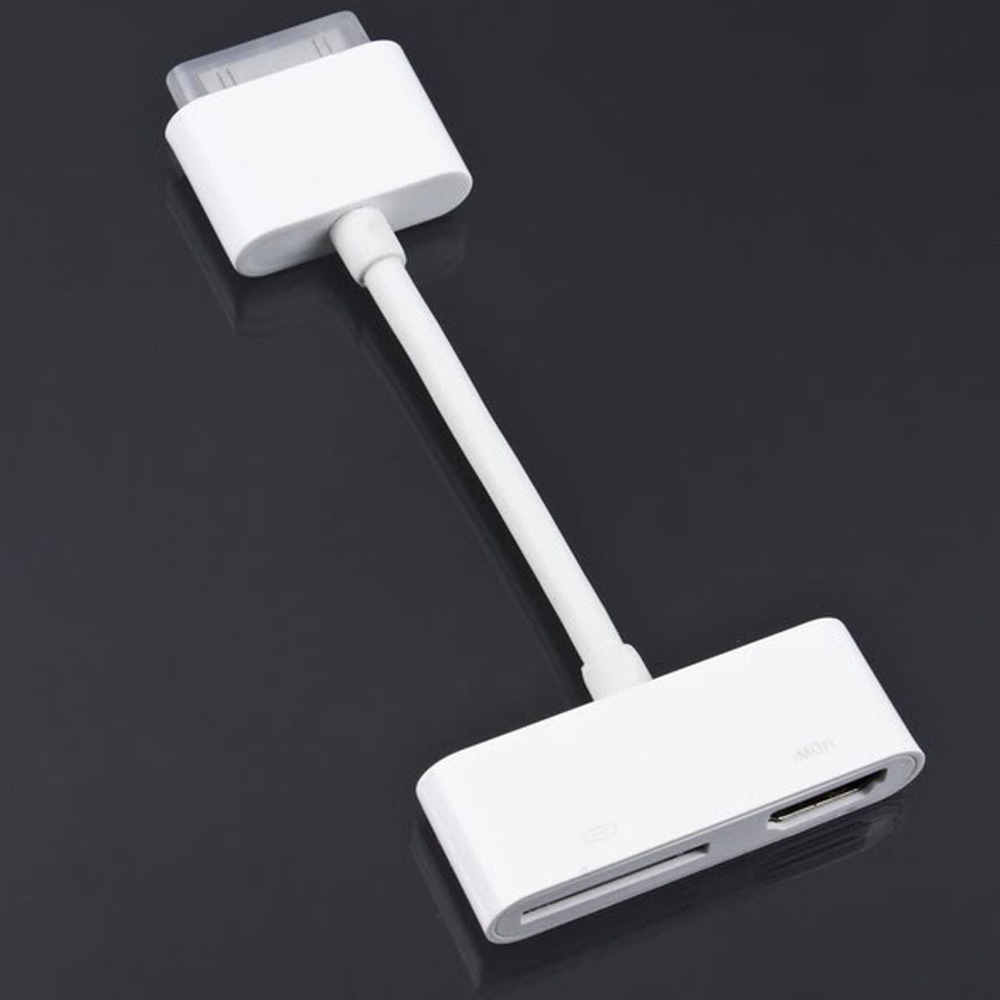 new 1Pcs Digital AV HDMI Adapter cable For iPod Touch for iPhone 4 4G for iPad 2 for iPad2
