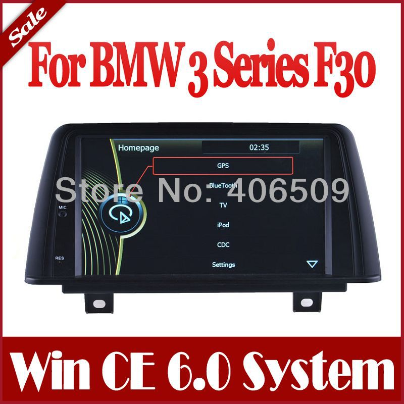 Head Unit Car DVD Player for BMW 3 Series F30 2012 2013 2014 with GPS Navigation Radio Bluetooth TV SD USB Map Audio Video(China (Mainland))