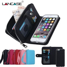 Buy iPhone 6S Case 2 1 Detachable Leather Zipper Wallet Case iPhone 6 6S Plus 7 7 Plus 5S SE Multifunction Phone Cases for $9.99 in AliExpress store