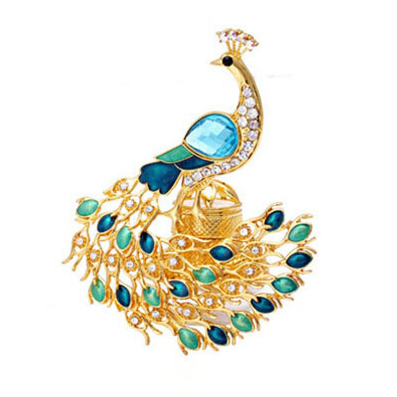 Gold Car Perfume Air Freshener Elegant Fragrance Peacock For Auto Decor / Home Decorations Car Vent Outlet Perfume(China (Mainland))