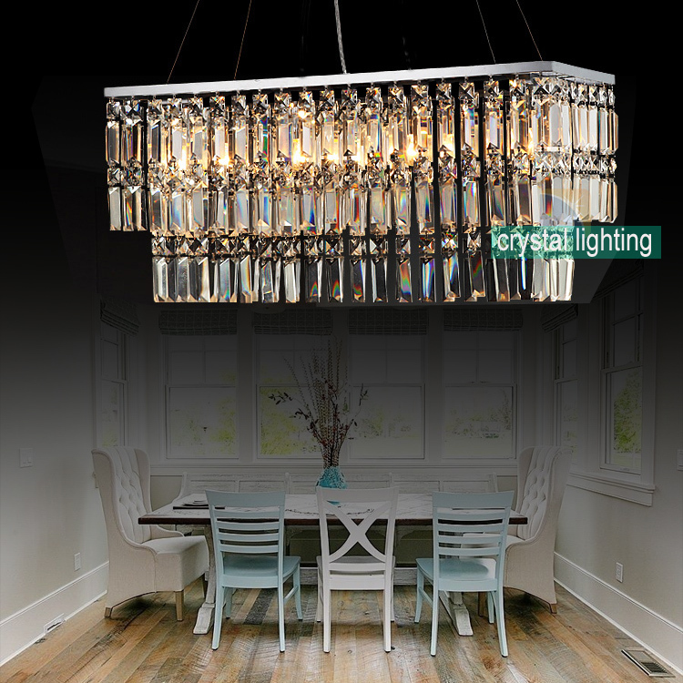 contemporary crystal chandelier modern crystal lighting dining room