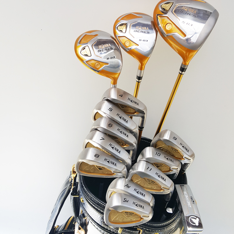 New Golf Clubs Honma S-03 4star Golf clubs set driver+wood+irons+putter Graphite Golf shaft wood headcover Free shipping(China (Mainland))