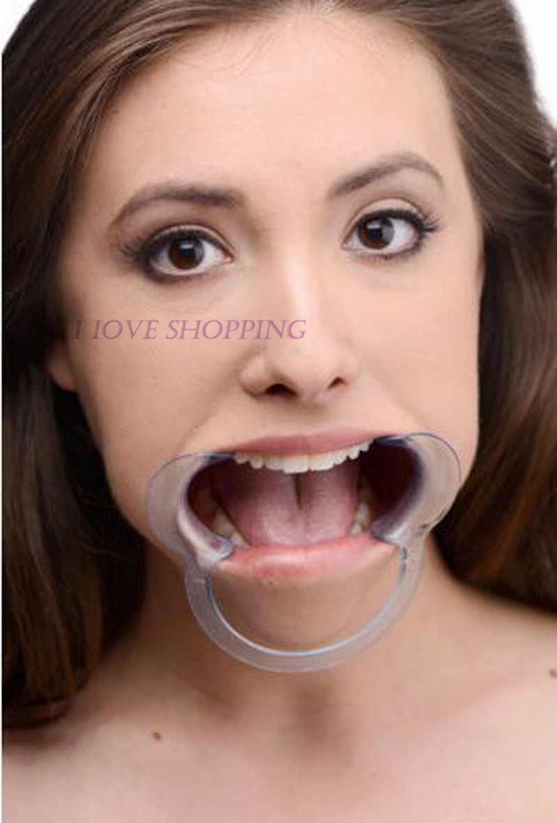 Openings Mouth Gag For Adult Games, Oral Fixation Stuff Mouth Gaged Adults Sex Toys For Women, Clear ABS Open Stuff In Mouth(China (Mainland))
