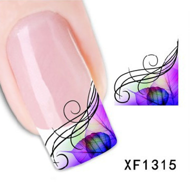 Hot Sale 1 Sheet Watermark Sticker France Stickers For Nail Art DIY Water Transfer Decal Nail