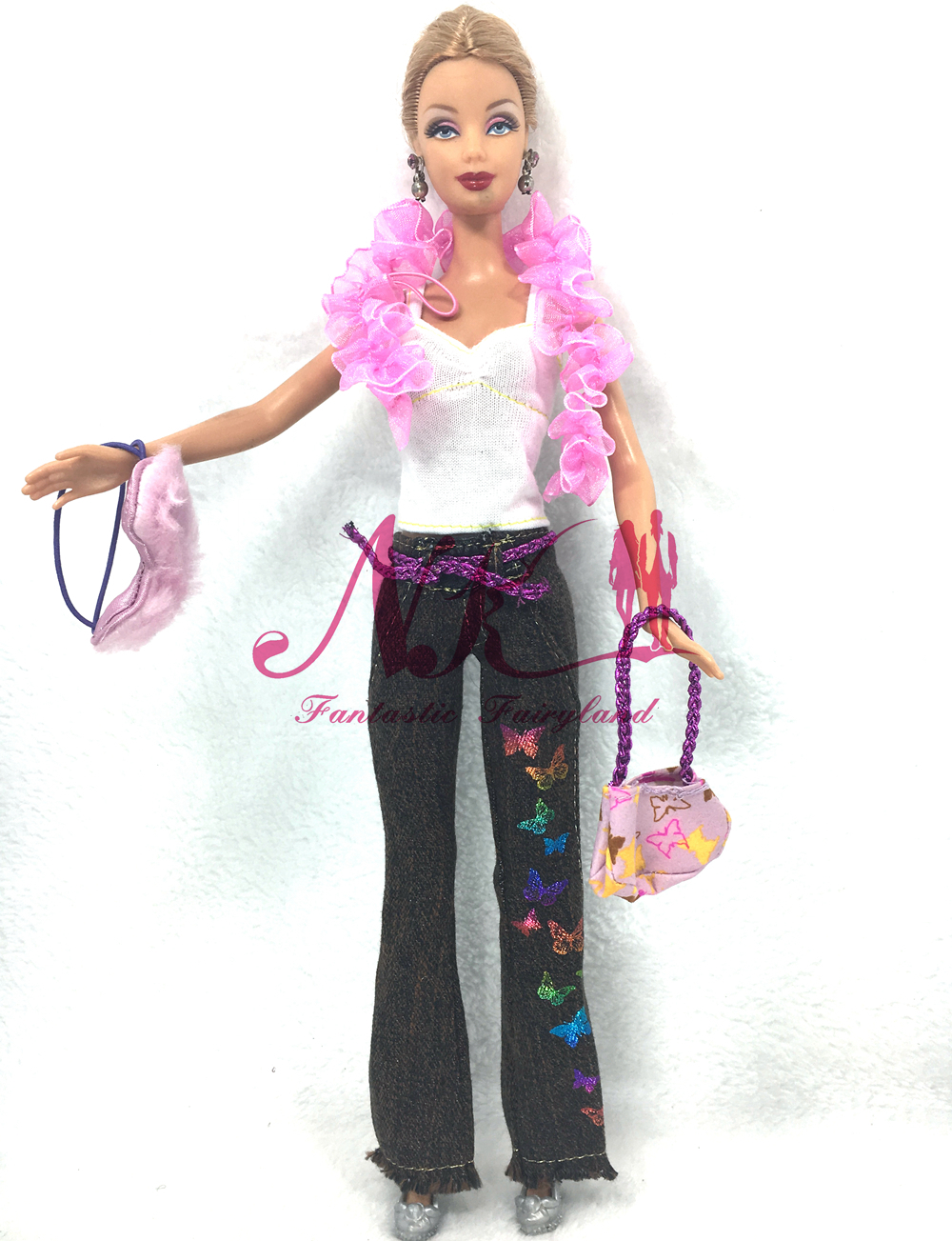NK One Set Authentic Doll Garments Princess Vogue Go well with Winter Coat Pants Scarf Hat Bag Sneakers For Barbie Doll Greatest Reward For Little one