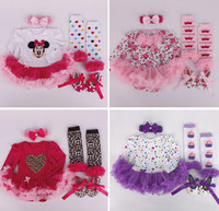 2015 New Newborn Photography Christening Birthday Gift Baby Girl Clothing Set Headband+Bodysuit+Leg Warmers+First Walkers Shoes