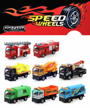 Free Shipping 8pcs/lot Fire truck model toy car, Alloy Models kids toys Car Children Educational Toys Simulation Model Gift(China (Mainland))