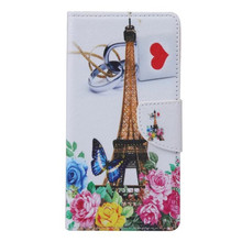 New Color Printed PU Leather Case for iphone 6s plus 5.5inch Eiffel Tower Butterfly Owl Minions Flowers Wallet Cover Card Slot