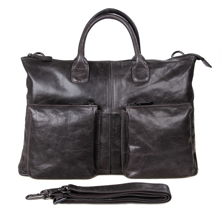 """7241J 5Pcs/Lot Genuine Leather Leather Handbags Fit 17"""" Inch Laptop For Men Leather Briefcases(China (Mainland))"""